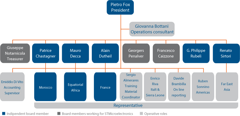 Organizational Chart of the ST Foundation as of June 2018